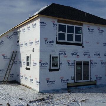hagen homes, kenosha custom home builder, winter home building